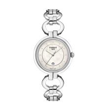 TISSOT天梭 弗拉明戈石英优雅钢带手表女表白色珍珠贝母钢带女表 T094.210.11.116.00