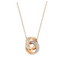 施华洛世奇FURTHER 链坠, 白色, 镀玫瑰金色调5240525