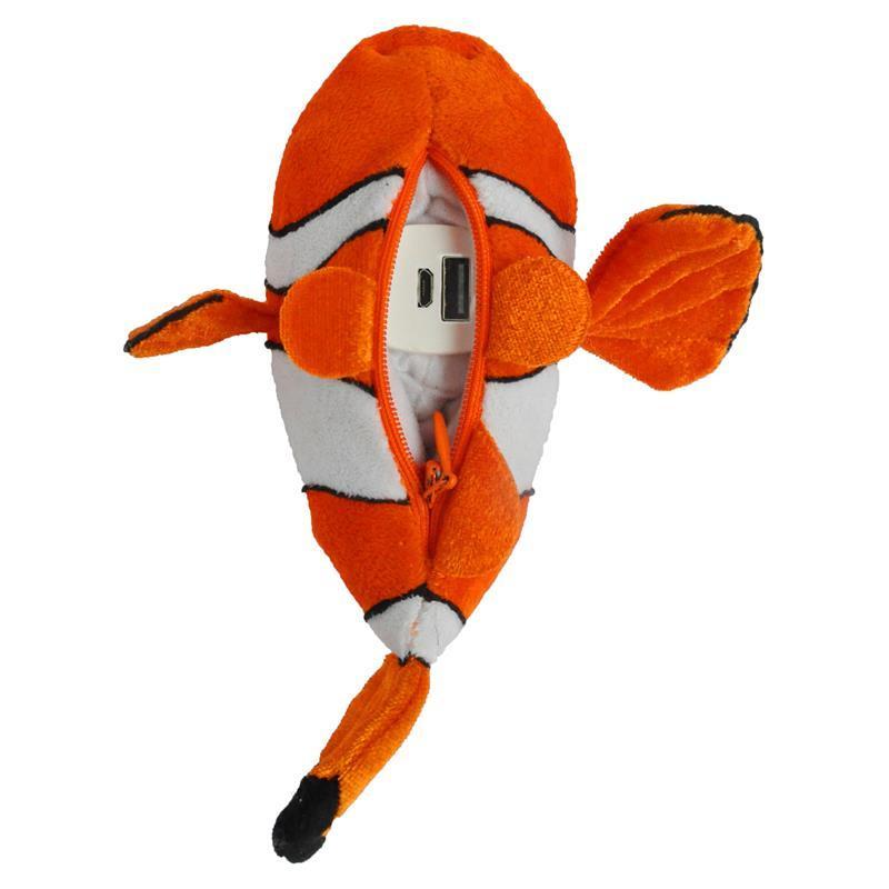 disney 迪士尼 移动电源毛绒公仔系列智能快速充电宝5200毫安-小鱼