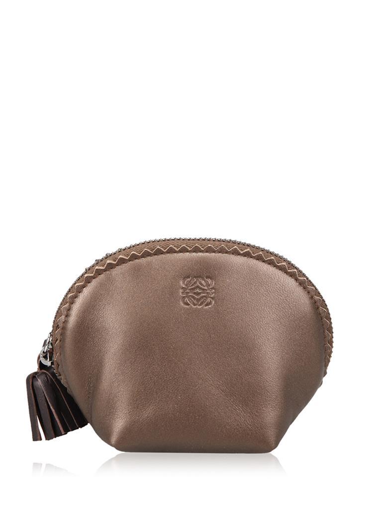 loewe罗意威羊皮材质女士零钱包[棕褐色 6*6*7.5 cm]