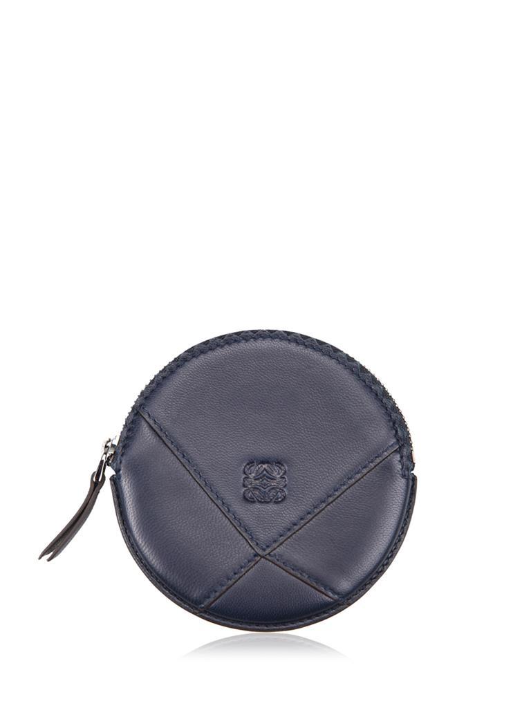 loewe罗意威藏青色羊皮材质纯色女士零钱包[藏青色 9*