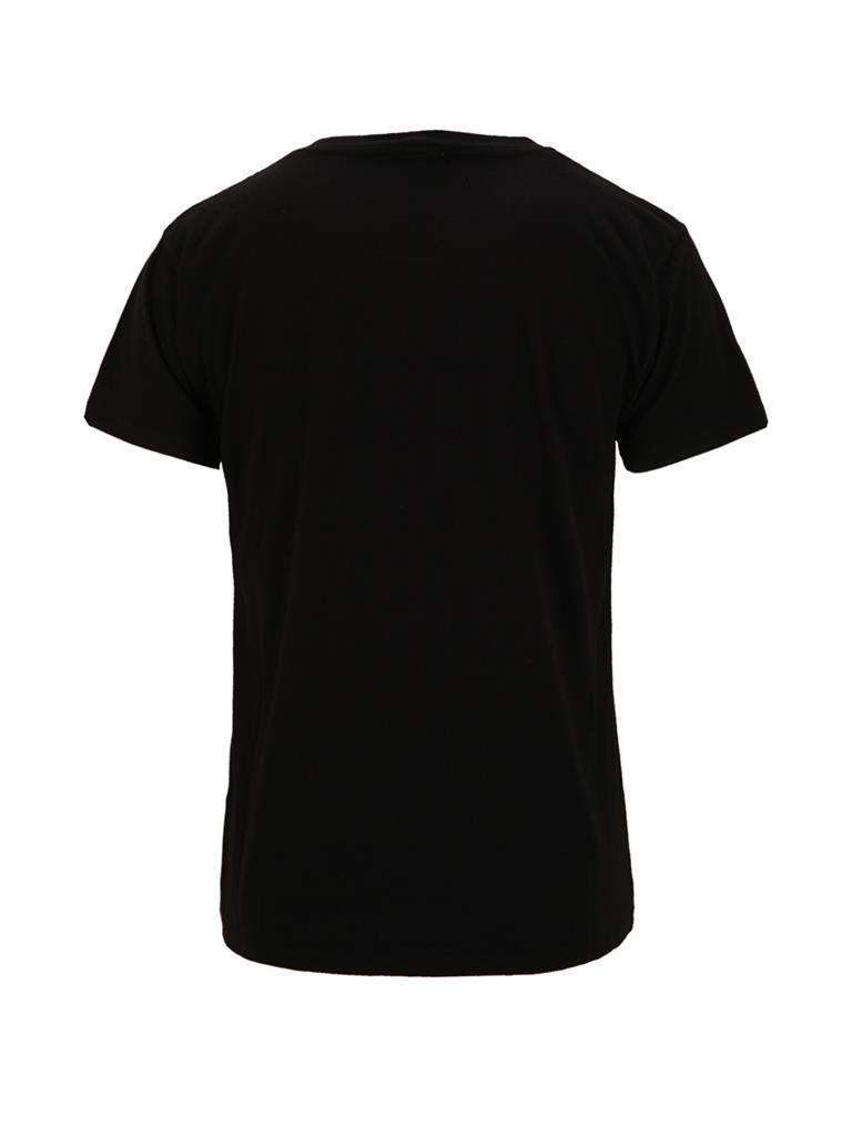 圣罗兰黑色纯棉材质欧美风男士短袖t恤 图片合集