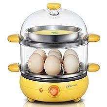 小熊 (Bear) 煮蛋器 ZDQ-2191 双层蒸蛋器不锈钢煎蛋器 [橙黄色]