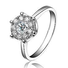仟佰 18K金钻石戒指 盈彩 [白色]