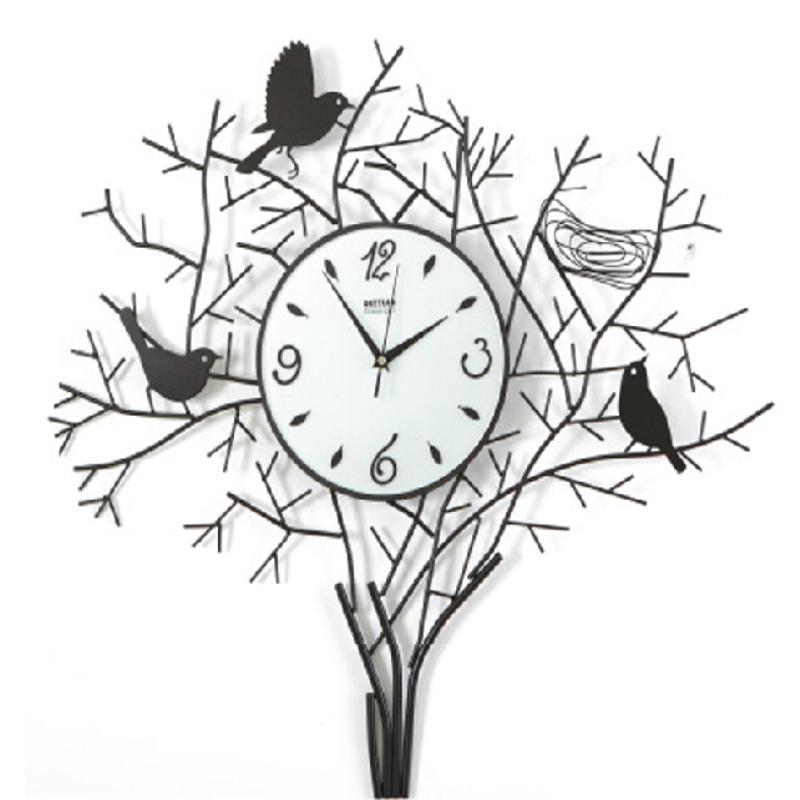 创意简约壁钟艺术钟表之倦鸟归巢