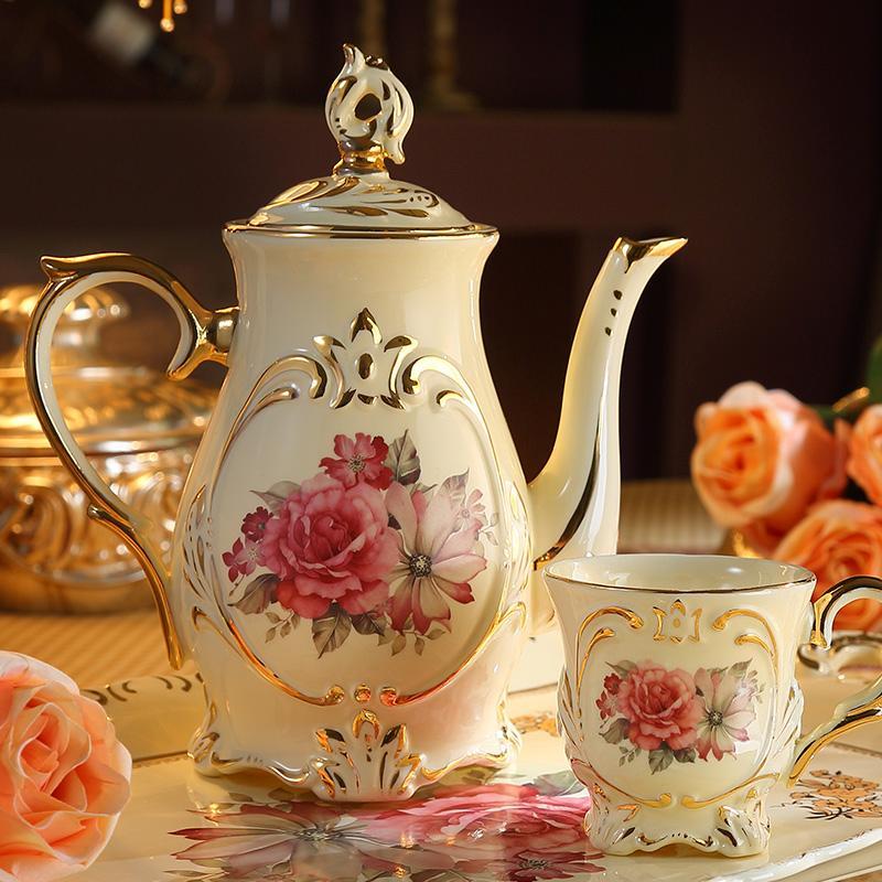 其他品牌 mioo 欧式咖啡茶具套装英式下午茶具陶瓷带茶托盘茶壶茶杯图片