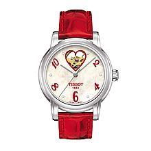 天梭 TISSOT-LADY HEART系列 机械女表 瑞士原装进口 T050.207.16.116.02 [表盘白色]