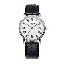 天梭 TISSOT-心意石英手表 皮带超薄男表腕表 瑞士原装进口 全球联保2年 T52.1.421.13 [表盘白色]
