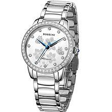 罗西尼 ROSSINI手表 典美时尚系列原色陶瓷表带自动机械女表 [5722W01A]