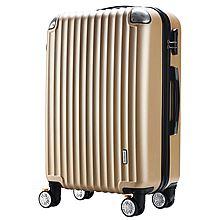 surelaptop 磨砂面ABS款耐磨防刮刹车轮拉杆箱万向轮行李箱 3306-24[金色 24寸]