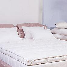杜维雅 Downia 90%白鹅绒双层羽绒床垫 D-001[白色 180*200+5]