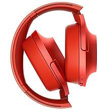 索尼 h.ear on Wireless NC 无线降噪立体声耳机 MDR-100ABN[红色]