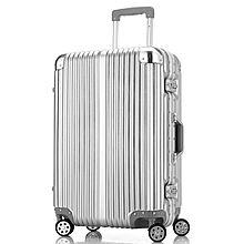 民商智惠 旅行之家铝框锁扣拉杆箱旅行箱银色THLK-1168 [29寸,银色]