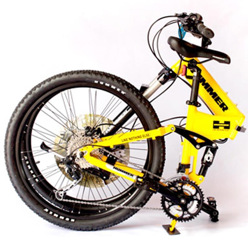 悍马26寸山地自行车 折叠越野骑行单车27速sf-26fd