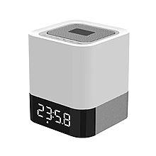 UTSUWA 手机无线蓝牙音响低音炮可调节感应LED台灯插卡便携移动电源闹钟 [白色]