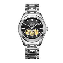 罗西尼 正品男士自动机械表 镂空精钢男表商务手表 腕表 男士手表5443系列 [黑色]