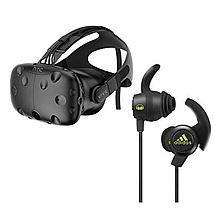 htc vive VR虚拟现实眼镜 3D vr虚拟现实头盔 个人版 标配 加魔声阿迪达斯运动耳机 套装 [图色]