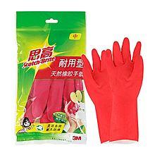 3m 思高 手套 耐用型手套中号 X2 [红色]