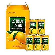 乐天 韩国进口果汁饮料芒果汁 [180ml*15罐]