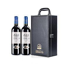 风驰古堡 干红 法布尔庄园法国原瓶进口红葡萄酒 黑色礼盒装 [750ml*2瓶]