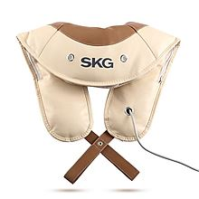SKG 颈椎按摩器按摩披肩敲打按摩肩带4036 [棕色/浅米]