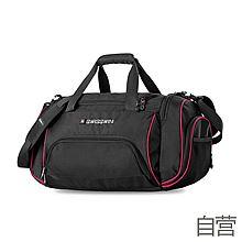 民生电商自营 SWISSWIN瑞士十字男女单肩斜跨包休闲健身运动包手提旅行包旅游袋SWE1031 [黑色]
