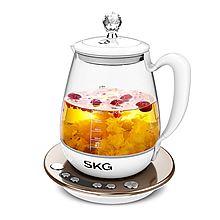 SKG 养生壶全自动多功能加厚玻璃花茶器 8069 [白色 1.8L]