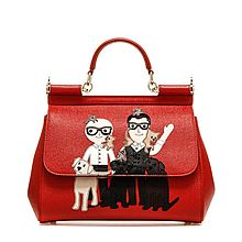 DOLCE&GABBANA 西西里Family系列红色手提包 BB6002AB50580303 BB6002AB50580303[红色均码]