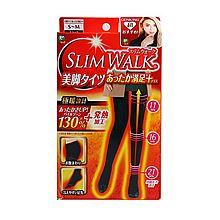 Slimwalk 发热美腿瘦腿袜 提臀修身保暖 120D/80D(日本本土版)(二库-2) [120 S-M]