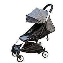 民商智惠 YUYU悠悠婴儿推车 轻便易携可躺可坐伞车可折叠 儿童车 五代款 [阳离子灰]