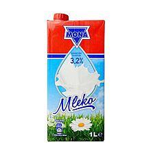 莫娜 波兰原装进口全脂纯牛奶 [1L*12盒/箱]