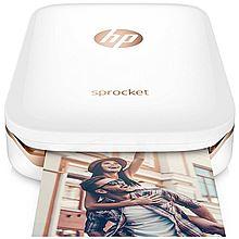 惠普 小印Sprocket 100(白) 口袋照片打印机 无墨打印 蓝牙连接 移动打印 便携打印 随身打印 Z3Z89A[白色]