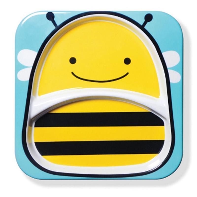 skiphop 【香港直邮】美国进口可爱动物系列儿童餐碟 餐碗组合 [蜜蜂]