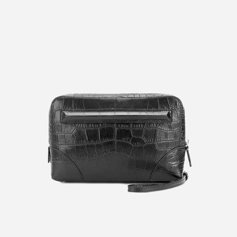 Givenchy 纪梵希 鳄鱼纹双层手包BK06072500 BK06072500[黑色 均码]