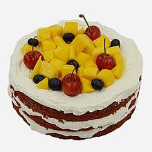 民商智惠 糖粒 奶油蛋糕 无糖红丝绒裸蛋糕 生日蛋糕 [1磅]