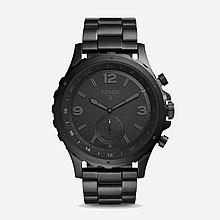 民商智惠 化石(Fossil)Q Nate 黑色 不锈钢表带 男士时尚 智能手表 FTW1115 [黑色]