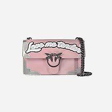 Pinko 粉色银火焰单肩燕子包1P2101Y3YC NI9 2079[粉色]