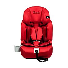 POUCH 儿童安全座椅汽车用宝宝安全坐椅 isofix硬接口9个月-12岁 KS16 [红色]