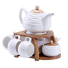 UTSUWA 欧式竹木架茶杯 咖啡杯套装 [套装]