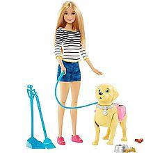 芭比 贪吃狗狗女孩玩具套装 DWJ68 DWJ68[图片色]