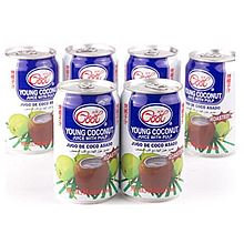 冰酷 烤椰子味椰子水饮料(含椰子果肉) 赠青豌豆酥6罐装 [310ml*6]