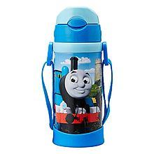 THOMAS&FRIENDS 托马斯 儿童保温杯带吸管 宝宝水杯不锈钢吸管杯 [4223TM 天蓝色]