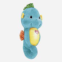 费雪 声光安抚小海马宝宝睡眠毛绒玩具 DGH82/ DGH83[蓝色 DGH82]