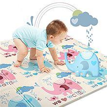 BIBILOVE 婴儿爬行垫加厚可折叠环保儿童游戏地毯BD01YG [彩色]