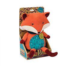 比乐 会说话的狐狸玩具可爱毛绒安抚抱枕哄睡BX1513Z [彩色]