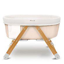 POUCH 帛琦婴儿床欧式多功能宝宝床可折叠环保便携BB床摇篮床 H26 H26[米色]