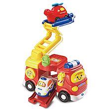 伟易达 Vtech 神奇轨道车大消防车 模型玩具直升机儿童声光音乐小车80-151318 80-151318[彩色]