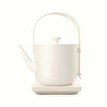 茶素材 材汀壶 [米白]
