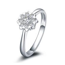 kela 珂兰 爱绽放 白18k钻石戒指 可定制 KLRW027053 [铂金色]
