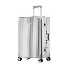 wrc 金丝拉面铝框拉杆箱旅行箱20寸W-C6028A 三色可选 [银灰色]